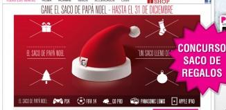 Concurso mensual Private Outlet para conseguir el Saco de Papa Noel lleno de regalos en diciembre
