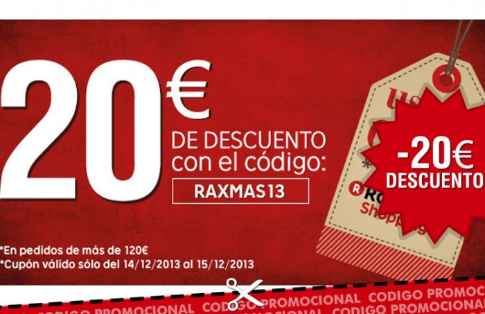 Codigo promocional de Rakuten con 20€ de descuento