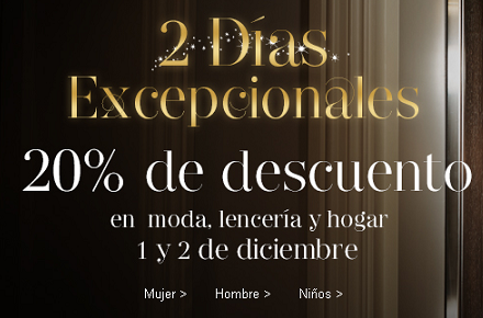Descuentos del 20% en Mark's & Spencers con motivo del Cyber Monday
