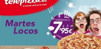 Martes Locos en Telepizza con ofertas especiales en pizzas desde 4,95€