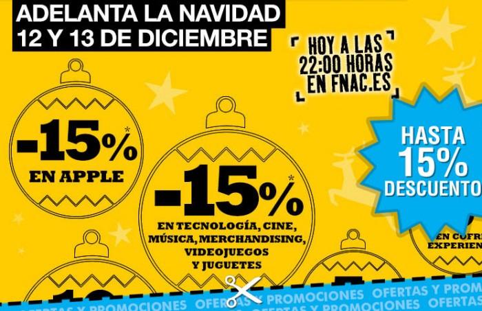 Descuentos de hasta el 15% para Navidad en toda la web de Fnac