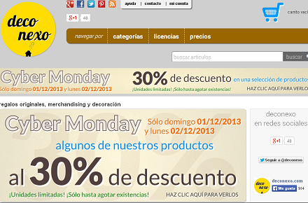 Cyber Monday en Deconexo