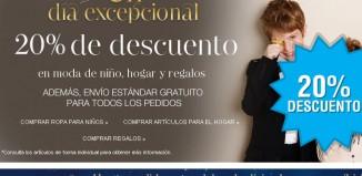Promocion de Mark's & Spencer con un descuento del 20% en ropa para niños, hogar y regalos
