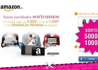Sorteo Amazon de 5.000 y 1.000 euros