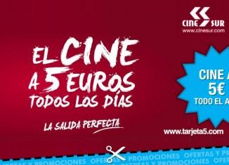 Tarjeta5 de CineSur para tener cine a 5€ durante todo el año