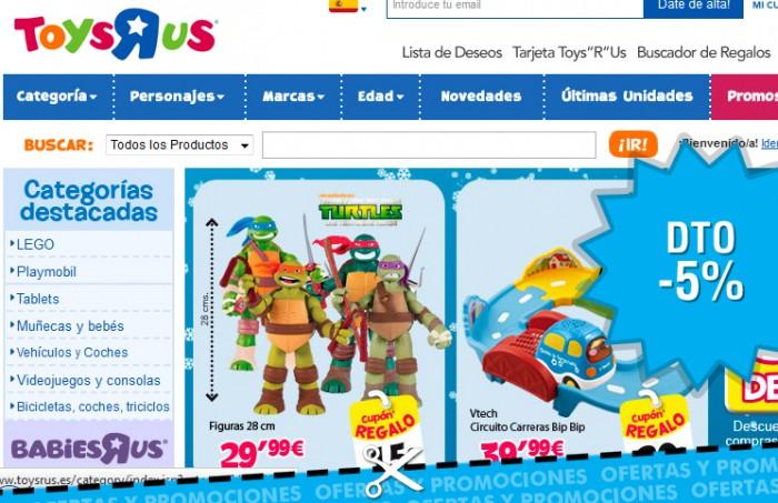 Codigo promocional de Toys R Us para tener un 5% de descuento adicional