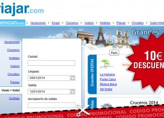 Código promocional de descuento en Viajar.com