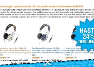 Descuento de hasta 24% en auriculares Sennheiser Momentum en Amazon