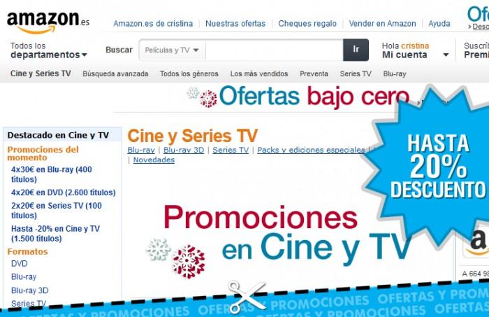 Descuentos de Amazon España en películas y series en Blu-ray/DVD