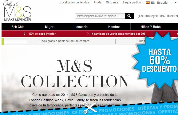 Descuentos en Marks and Spencer de hasta un 60%