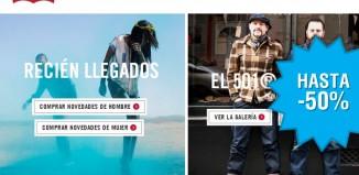 Rebajas de invierno en la tienda online de Levi´s con descuento de hasta el 50% en gran variedad de sus artículos