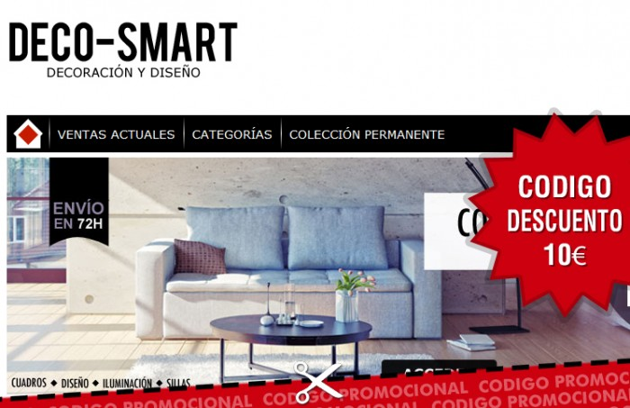 c digo promocional para deco smart de 10 en su cat logo. Black Bedroom Furniture Sets. Home Design Ideas