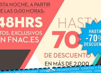 Promo de finde de Fnac con descuentos de hasta el 70% en todas sus categorías
