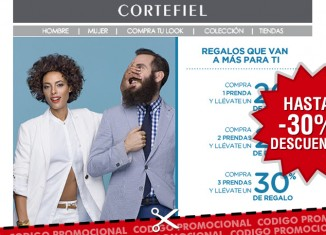 Cupon descuento en Cortefiel con un ahorro de hasta el 30% en moda