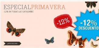 Promocion de DaWanda con un descuento del 12% durante la primavera