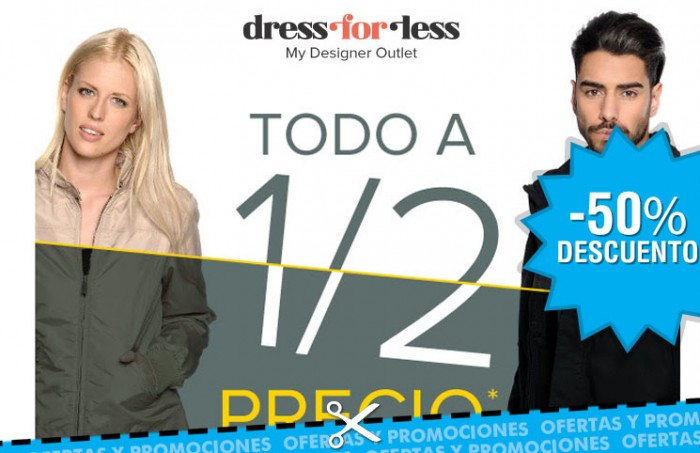 Rebajas del 50% en moda en Dress-for-less