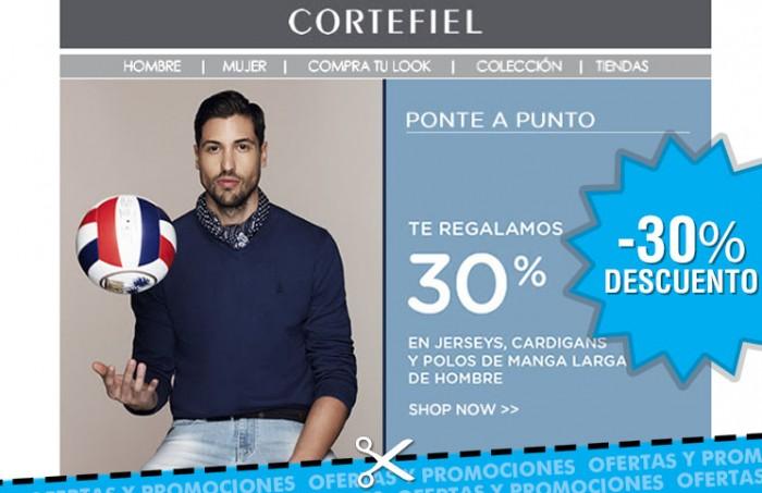 Rebajas en Cortefiel con descuentos del 30% en moda para hombres