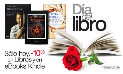 Día del Libro en Amazon con 10% de rebajas en libros y eBooks