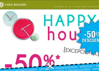 Hora feliz en Yves Rocher con descuentos en cosmetica del 50% en toda la web