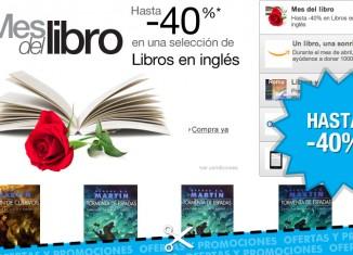 Mes del libro en Amazon con descuentos en hasta 40% en libros en inglés