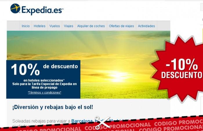 Ofertas de Expedia y codigo promocional con -10% durante Semana Santa