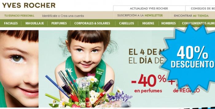 Dia de la madre en Yves Rocher con 40% descuento en perfumes + gel de ducha gratis