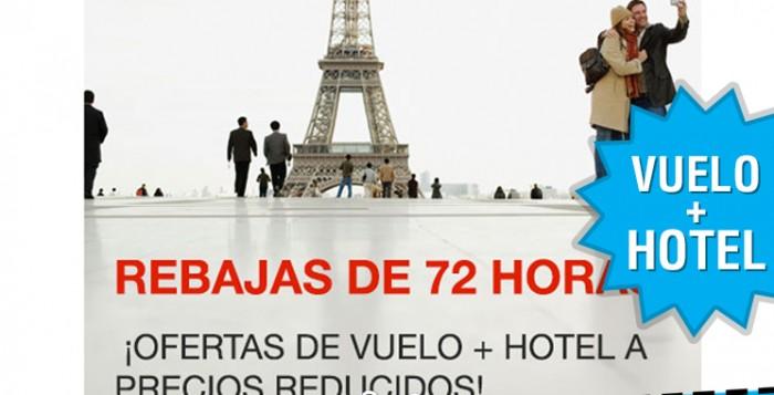 72 horas de rebajas en Expedia con vuelos + hotel
