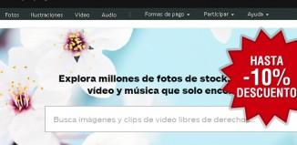Cupones promocionales de iStockPhoto con descuentos de hasta el 10% en créditos