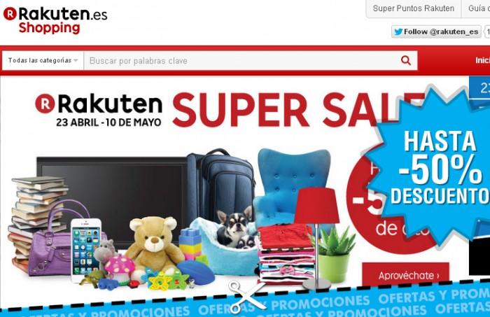 Super Sale de Rakuten con descuentos de hasta 50%