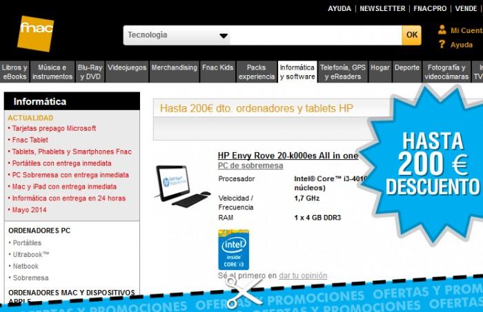 200 € descuento en Fnac en Tablets y ordenadores