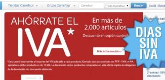 Días Ahórrate el IVA en Carrefour