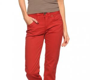 fransa pantalón rojo -80% descuento
