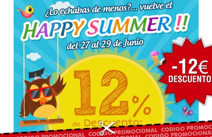 Happy Summer en EurekaKids con un cupon descuento del 12% ahorro