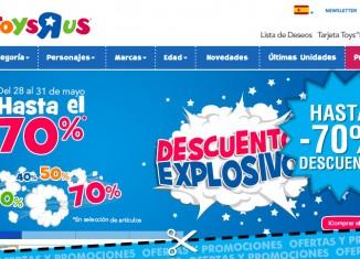 Descuentos explosivos en Toys R Us con ahorros de hasta el 70%