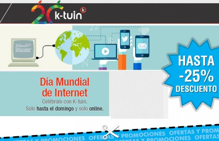Descuentos de hasta el 25% en K-tuin por el Día de Internet