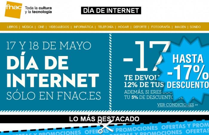 Semana de Internet en Fnac con la devolución de hasta el 17% de las compras