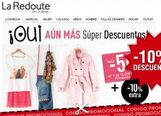 8300d7a71c Codigo promocional de La Redoute con un descuento extra de 10% para Súper  Descuentos
