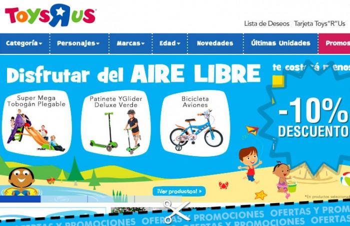 Rebaja de juguetes al aire libre de ToysRUs de un 10%