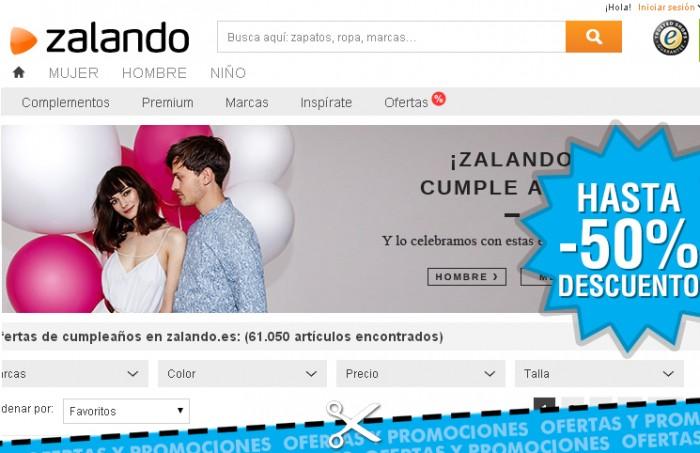 Aniversario de Zalando con descuentos en moda en más de 60.000 artículos