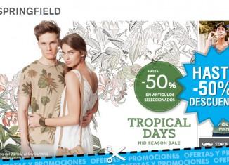 Promo Springfield Tropical Days con descuentos de hasta el 50% en moda