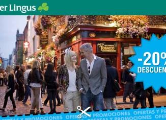 Ofertas de Aer Lingus para viajar a Irlanda desde España con un 20% descuento