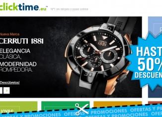 Rebajas de hasta el 50% en relojes seleccionados de Clicktime