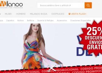 Promos de Milanoo con un codigo promocional con hasta -25% y envios gratis