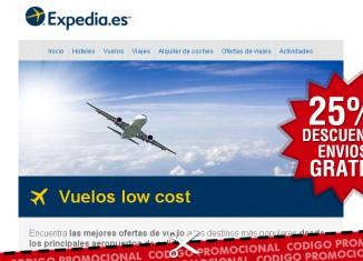 Cupón descuento de Expedia con el que conseguir un ahorro de 50€ por reserva vuelos + hotel
