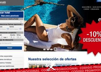 Codigo descuento en Barceló Hoteles para tener un 10% de ahorro adicional