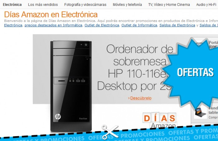 Amazon descuentos electronica