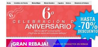 6º aniversario de Milanoo con rebajas de hasta el 70% en moda