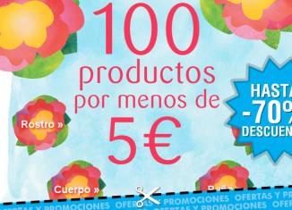 Selección de productos con más de 100 por 5€ y hasta 70% descuento en Bottega Verde