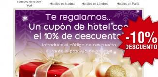 Código promocional de Hoteles.com con un ahorro del 10% en reservas