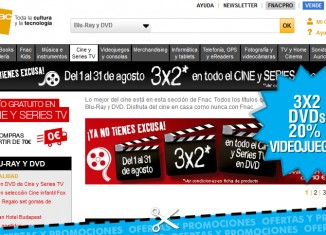 3x2 en DVDs y 20% descuento en videojuegos en Fnac